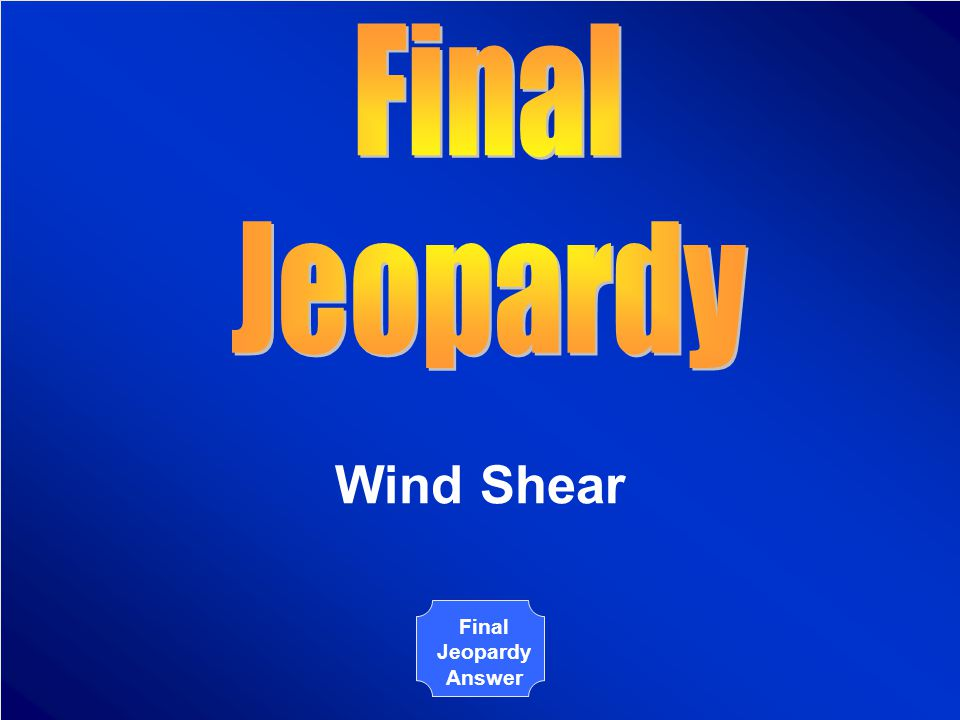 The Board Final Jeopardy