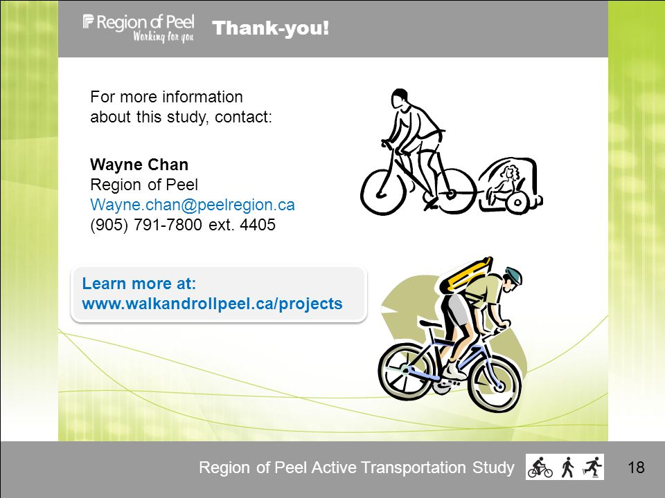 Region of Peel Active Transportation Study18 Thank-you.