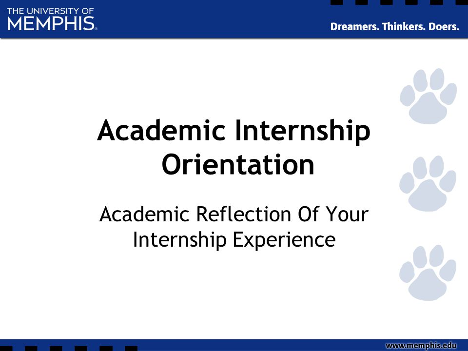 reflection on internship experience