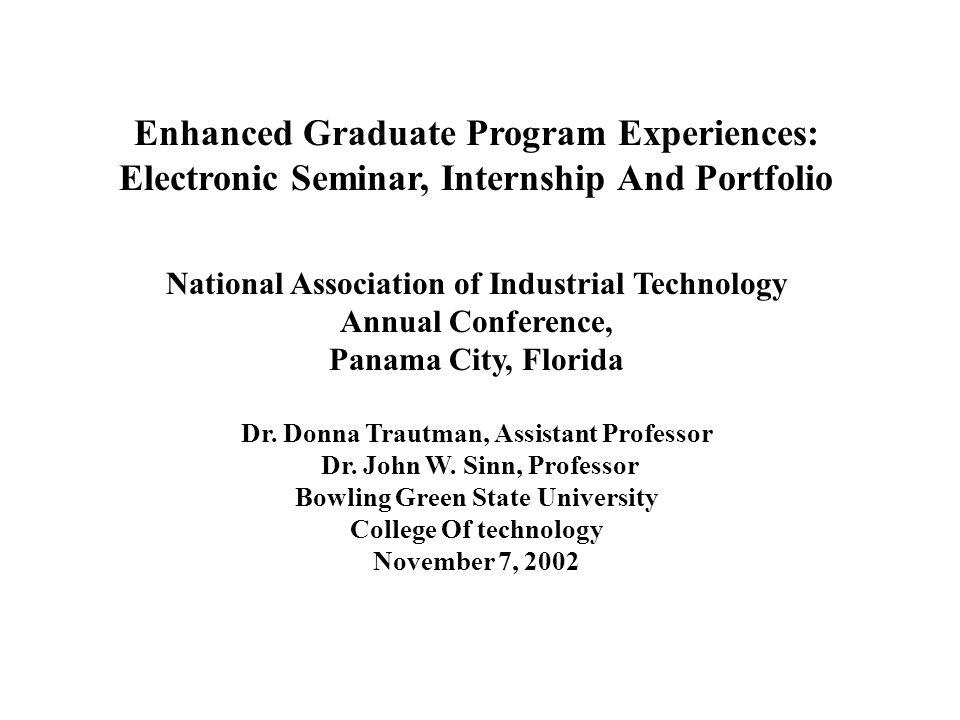 Enhanced Graduate Program Experiences: Electronic Seminar