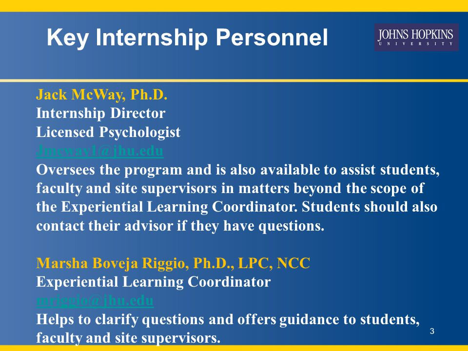 Clinical Mental Health Counseling Internship Orientation Department