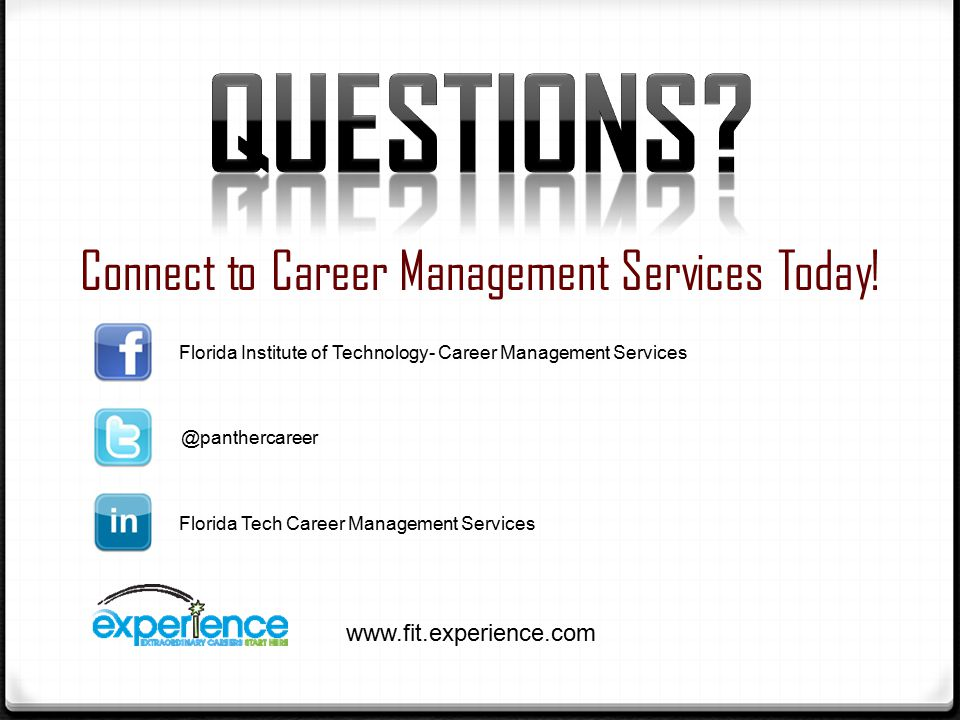 Connect to Career Management Services Today.
