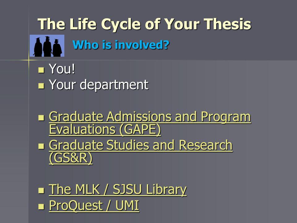sjsu thesis deadlines