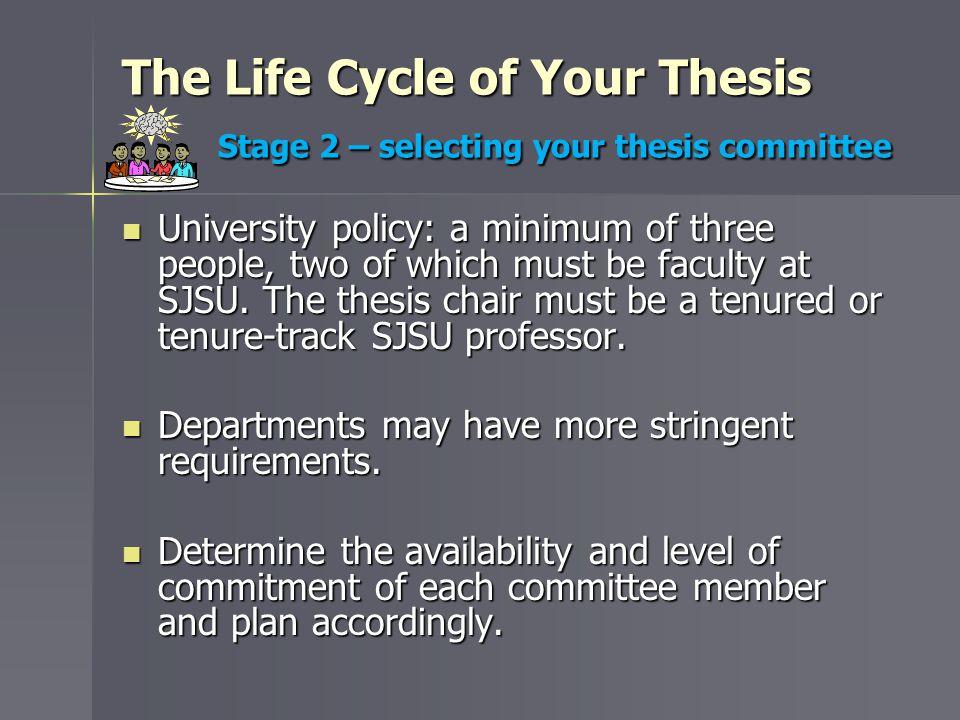 sjsu thesis information packet