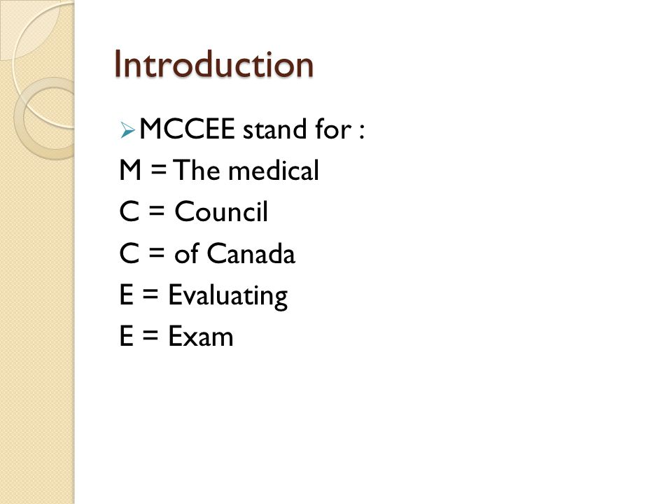 MCCEE MOHAMMED SADIQ SAMANNODI  Introduction  MCCEE stand