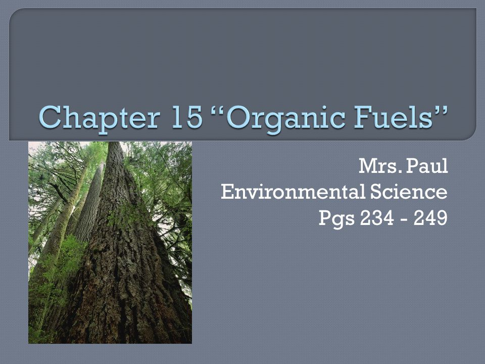 Mrs. Paul Environmental Science Pgs