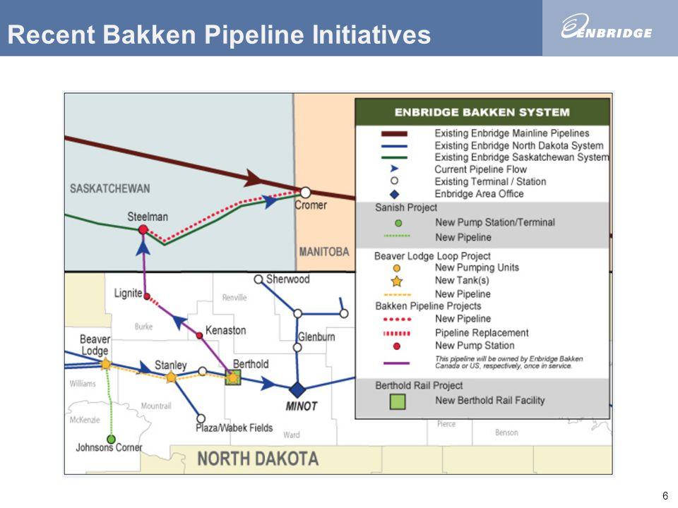 1 NEW BAKKEN MARKETS VIA PIPELINE Williston Basin Petroleum