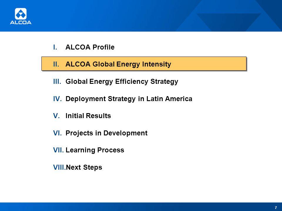 1 Energy Efficiency Program ALCOA LATIN AMERICA & CARIBBEAN U S