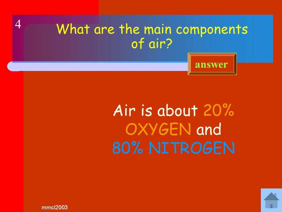 mmcl2003 What is the test for oxygen Oxygen relights a GLOWING taper answer 3