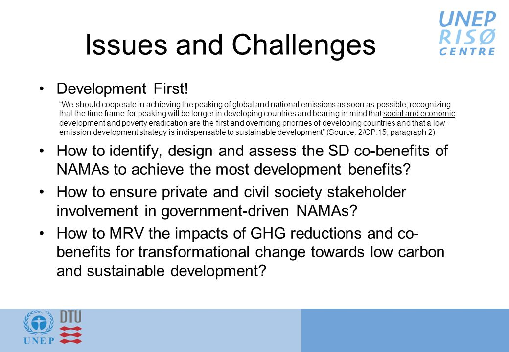 Issues and Challenges Development First.