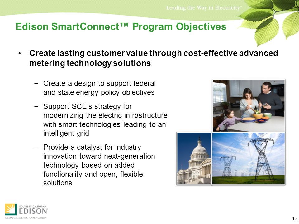 Partnering with Our Customers to Build California's Energy