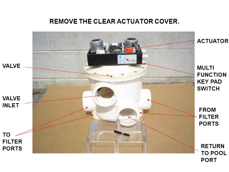 REMOVE THE CLEAR ACTUATOR COVER.