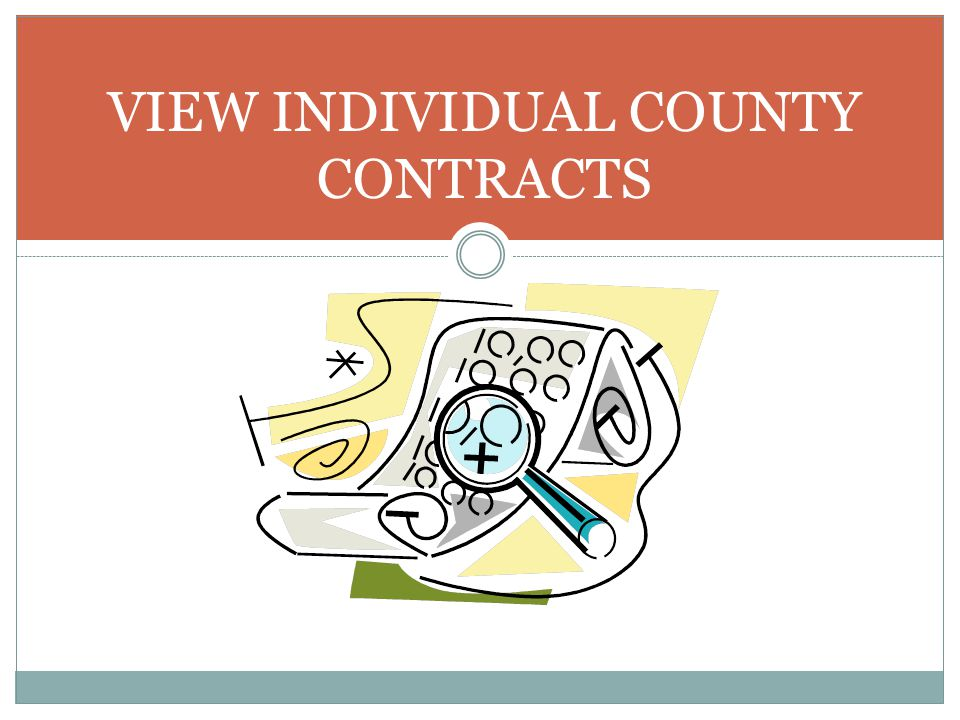 VIEW INDIVIDUAL COUNTY CONTRACTS