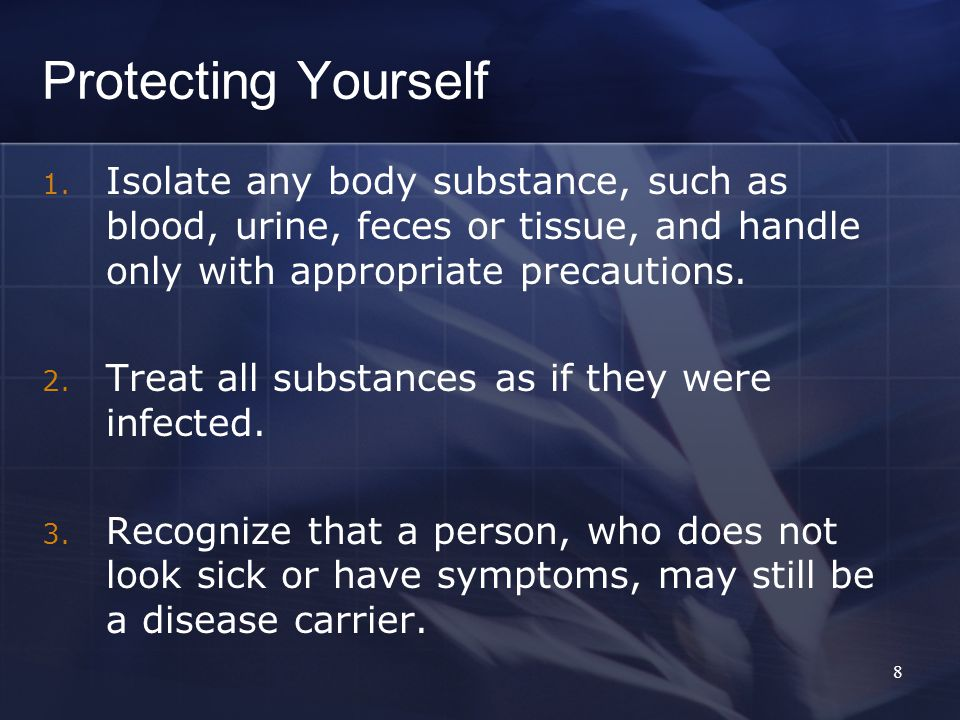 Protecting Yourself 1.