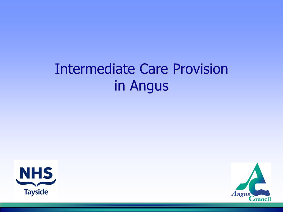 Intermediate Care Provision in Angus
