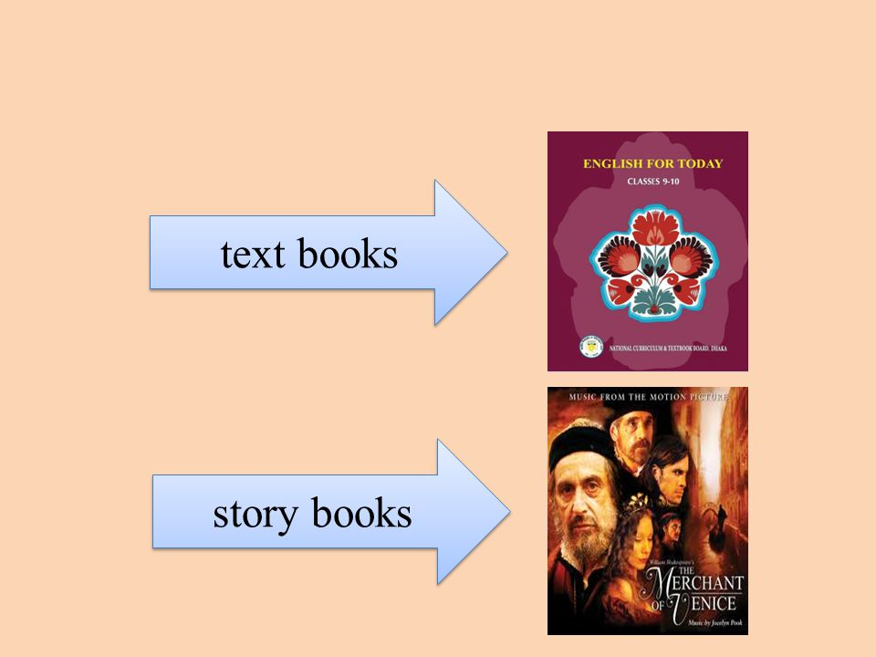 text books story books