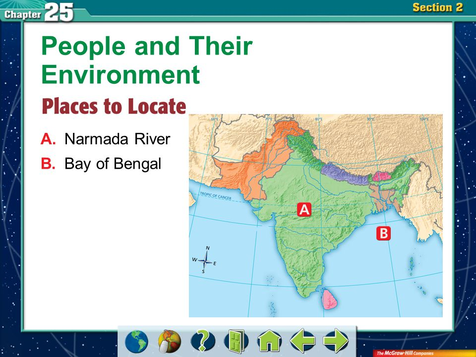 Section 2-GTR A.Narmada River People and Their Environment B.Bay of Bengal
