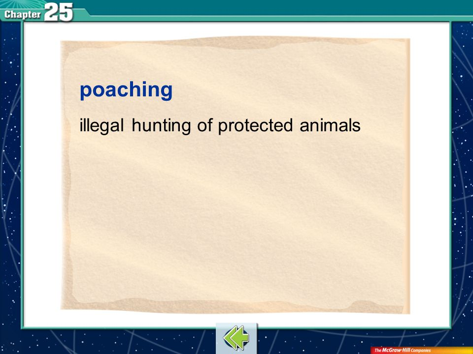 Vocab10 poaching illegal hunting of protected animals