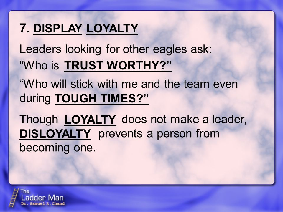 Who is Leaders looking for other eagles ask: 7.