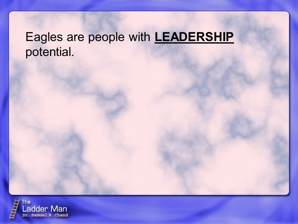 Eagles are people with potential. LEADERSHIP