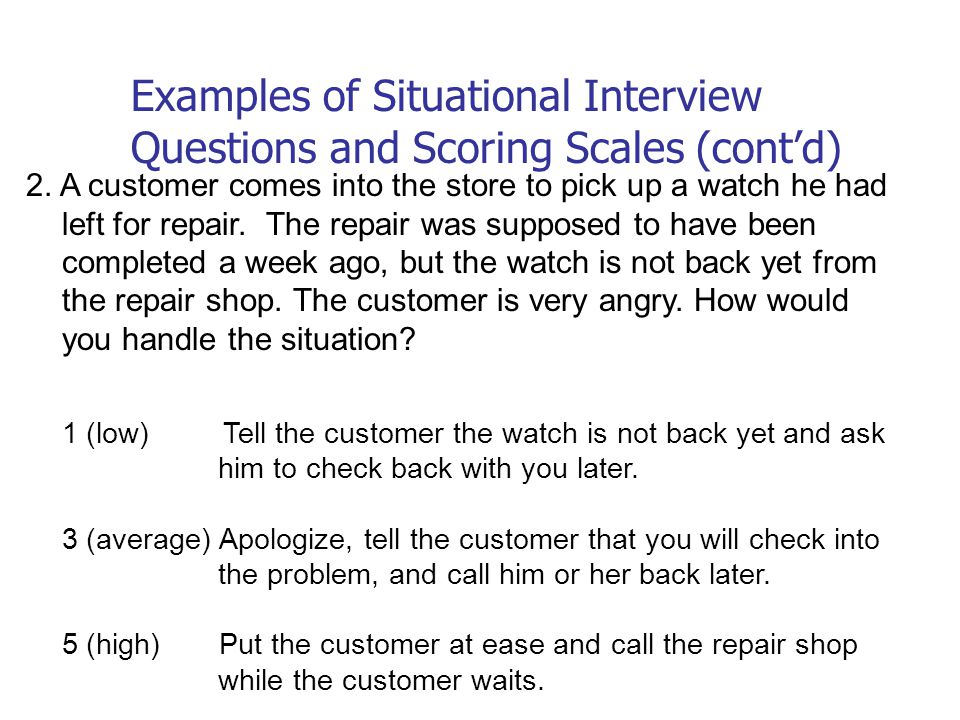 situational interview questions examples