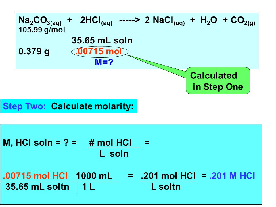 M, HCl soln = .
