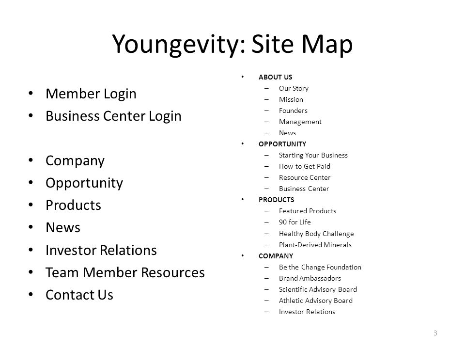 Youngevity Web Site Use Training Dr  Brand Niemann Director