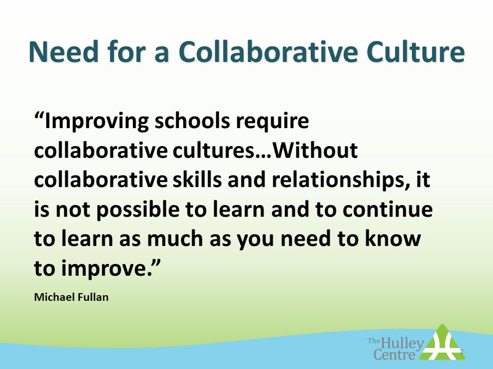 Image result for collaborative learning culture michael fullan