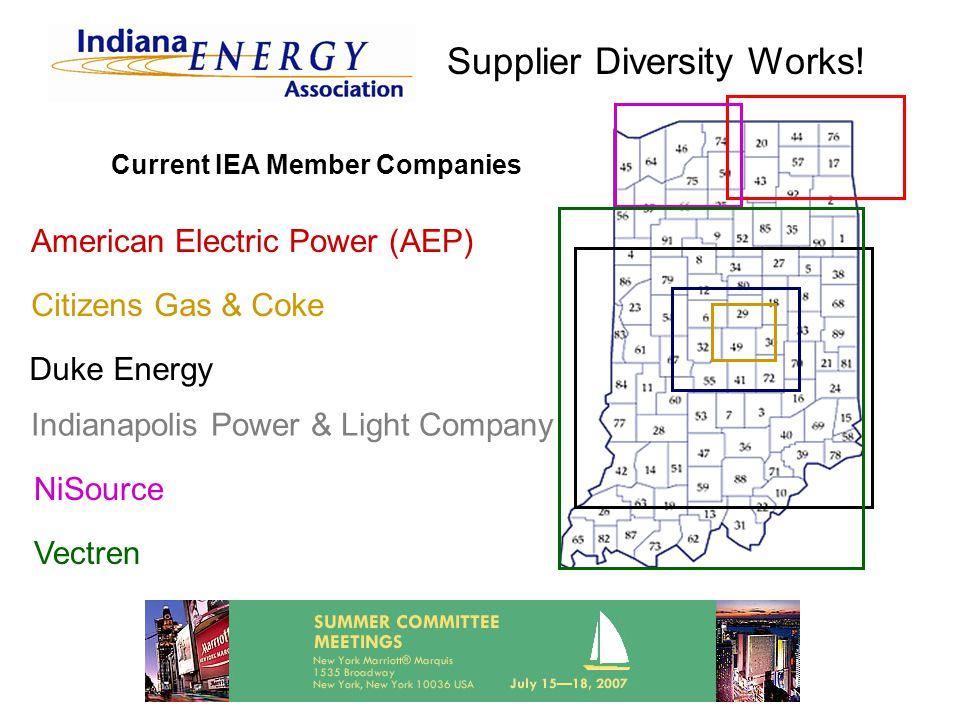 3 Current IEA Member Companies American Electric Power (AEP) Indianapolis  Power U0026 Light Company Citizens Gas U0026 Coke Duke Energy NiSource Vectren