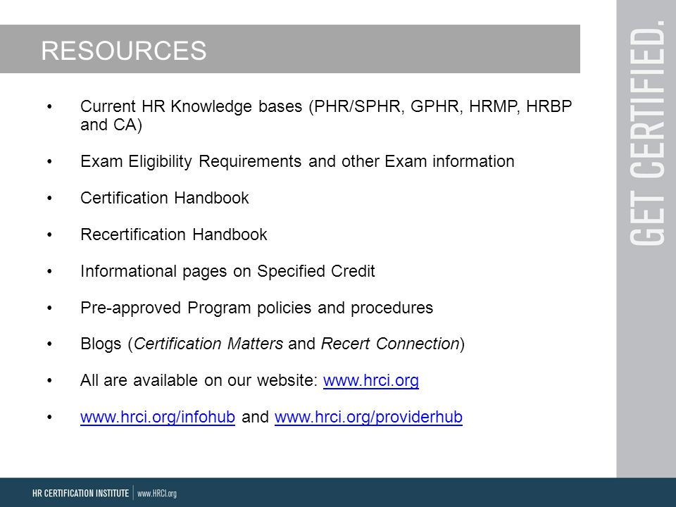 An Overview Of Hrci Certifications Recertification Process