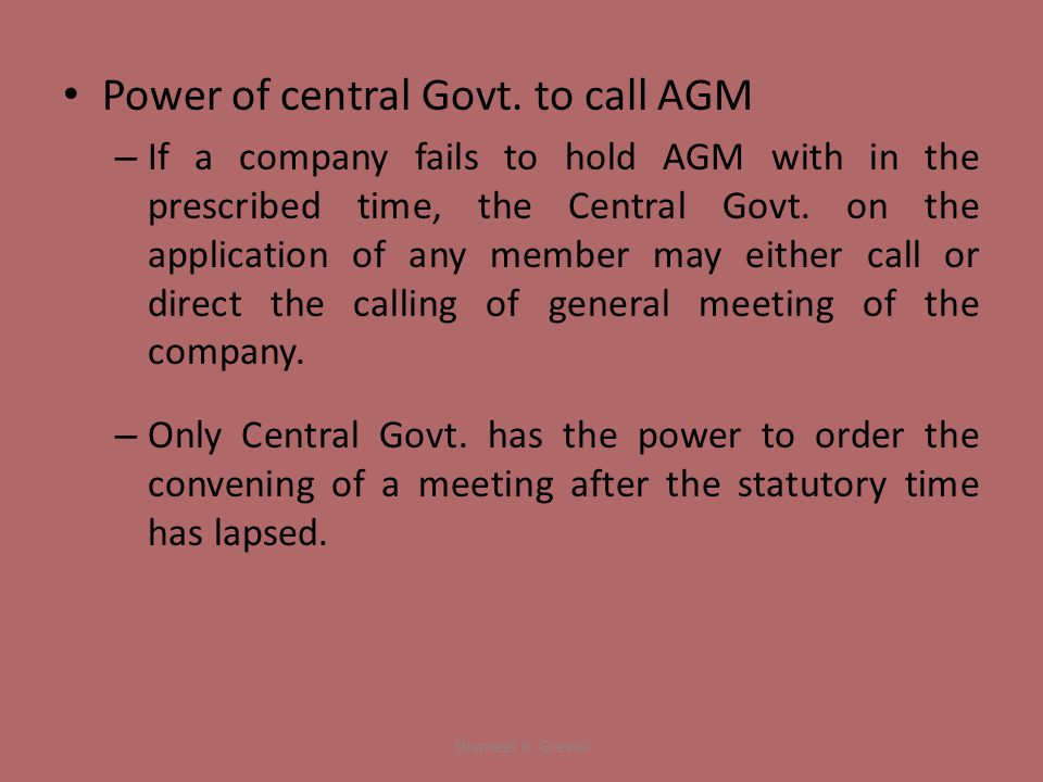 Power of central Govt.
