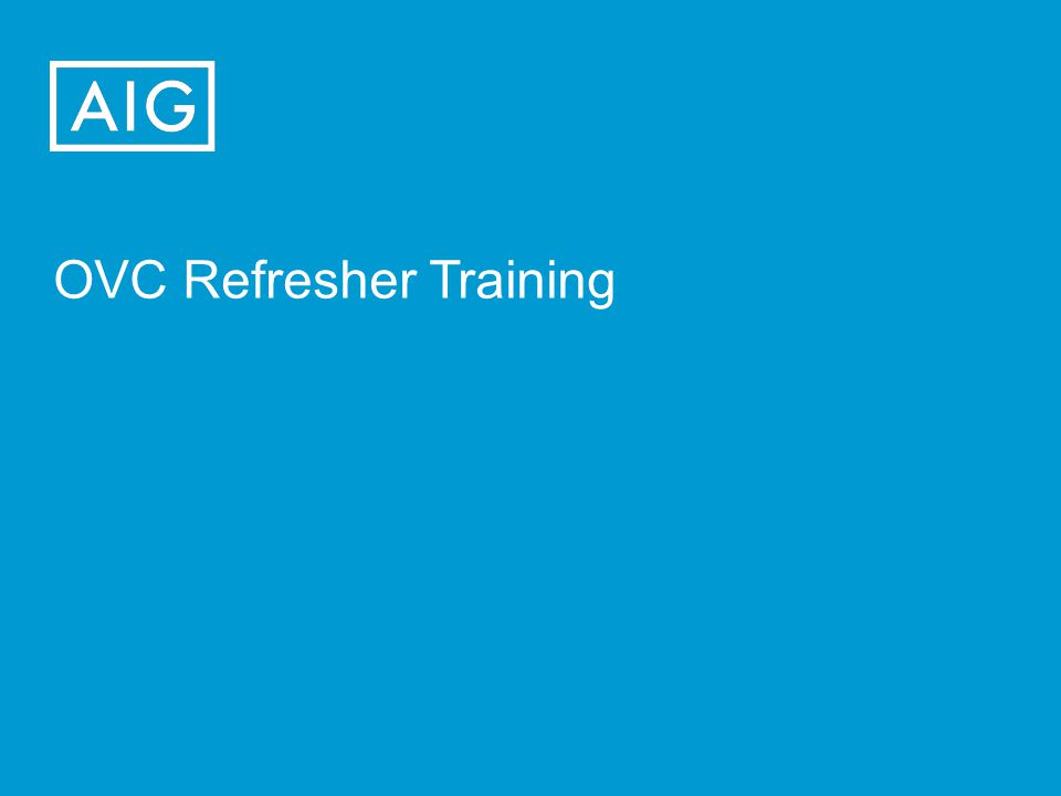 OVC Refresher Training