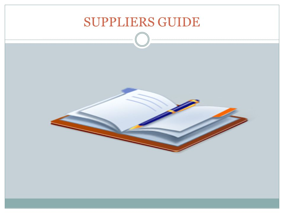 SUPPLIERS GUIDE