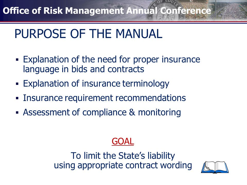 Office Of Risk Management Annual Conference Insurance Requirements