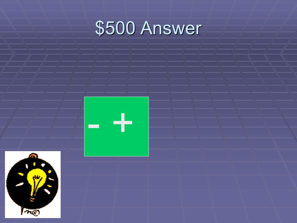 $500 Question Finish the pattern so these charges attract one another
