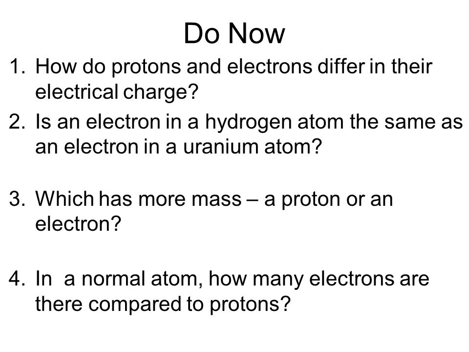 How Do Protons And Electrons Differ In Their Electrical Charge