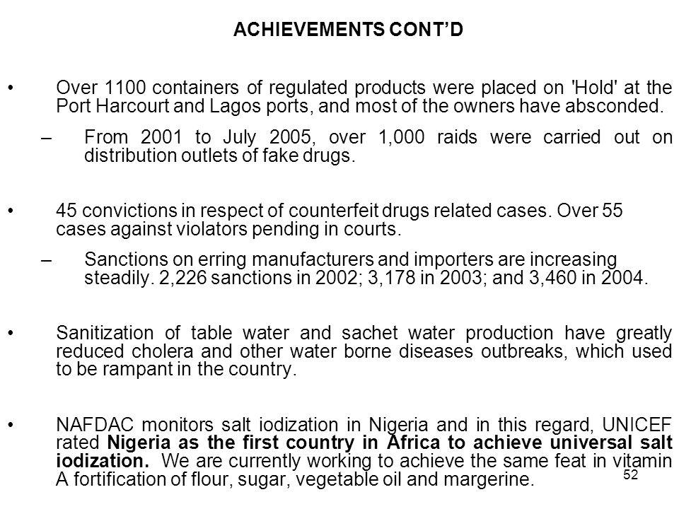 1 FEDERAL REPUBLIC OF NIGERIA ANTICOUNTERFEITING ACTIVITES: THE CASE