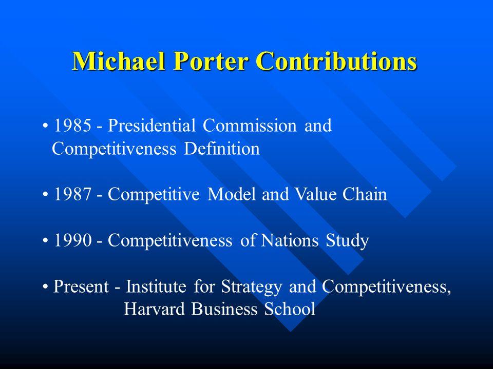 michael porter contribution to management
