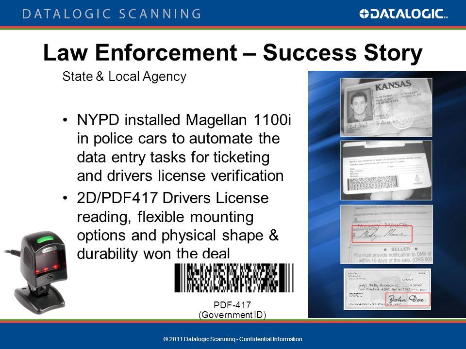 2011 Datalogic Scanning - Confidential Information Vartech