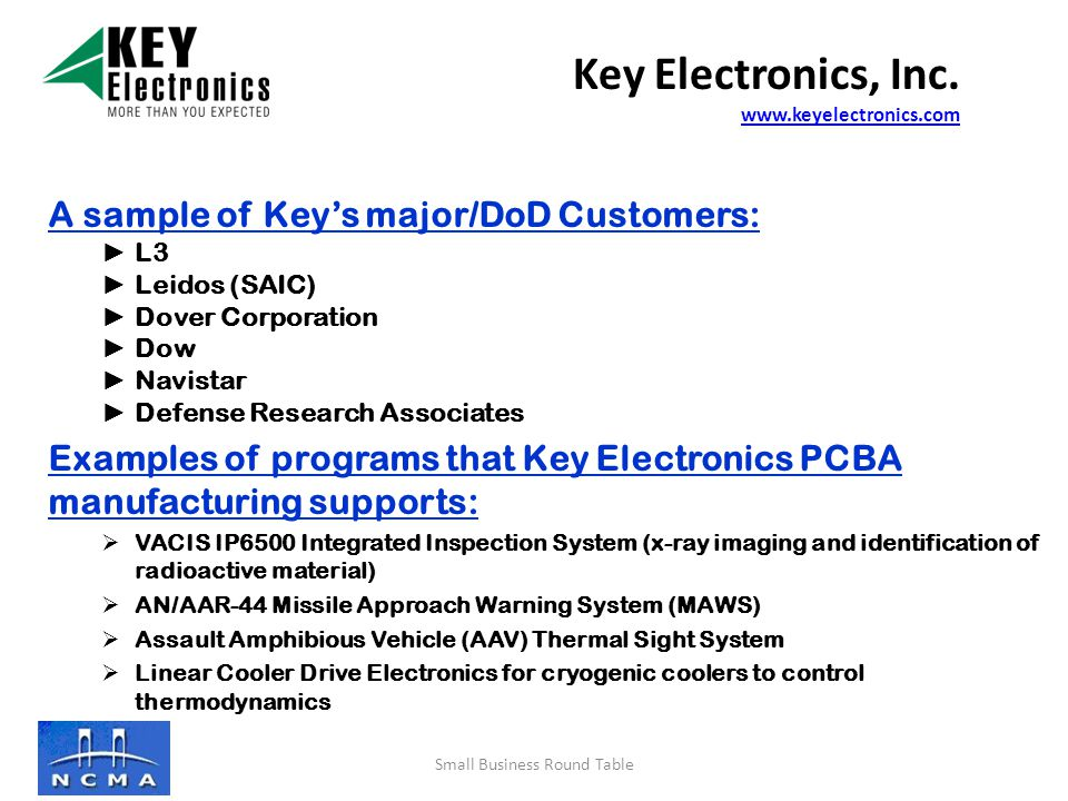 Mission/Vision Statement Key Electronics is the premier