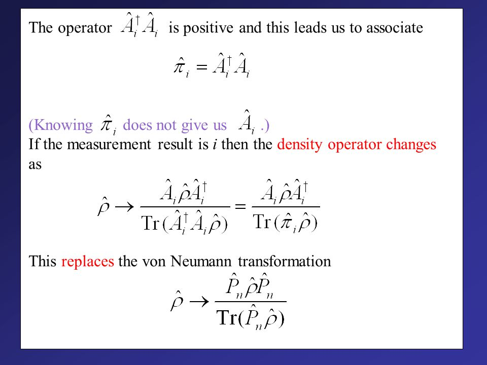 Properties of density operators I. They are Hermitian II.