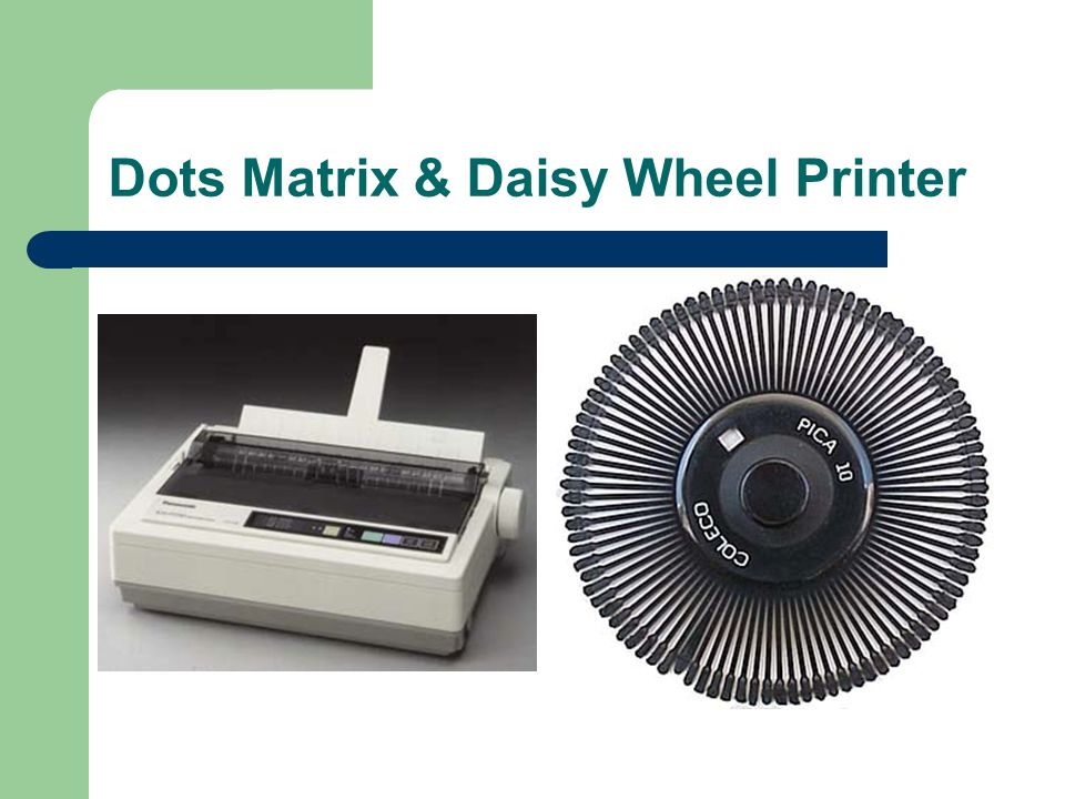 Dots Matrix & Daisy Wheel Printer