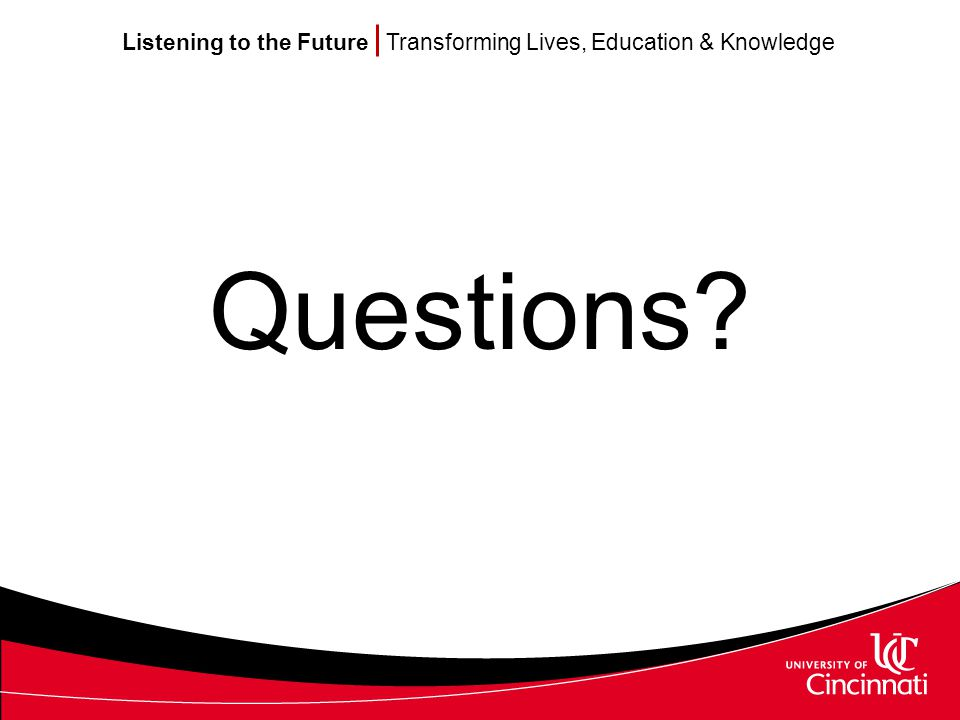 Listening to the Future Transforming Lives, Education & Knowledge Questions
