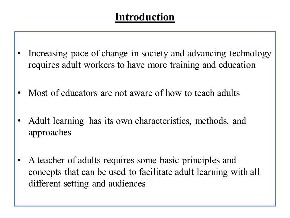 Principles of Adult Learning By Dr Rakesh Kumar. Framework ...