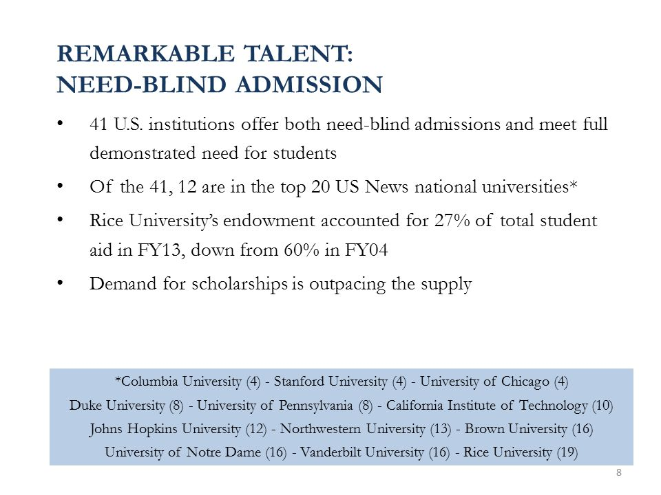 REMARKABLE TALENT: NEED-BLIND ADMISSION 41 U.S.