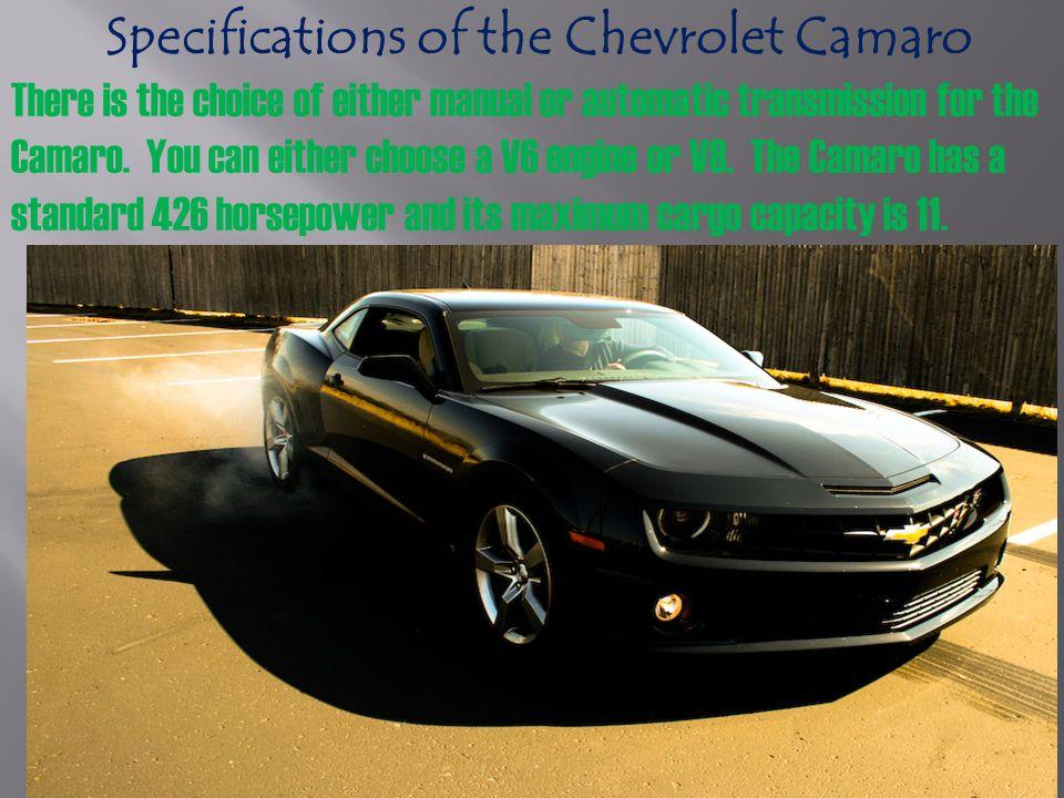Chevrolet Camaro features