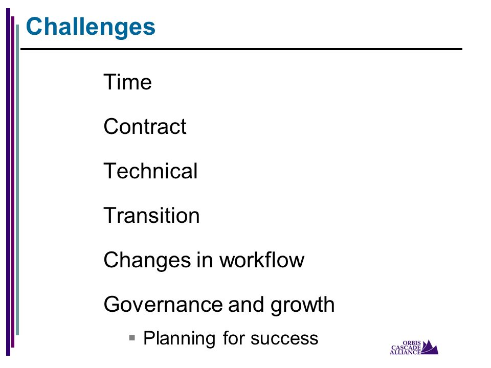 Time Contract Technical Transition Changes in workflow Governance and growth  Planning for success Challenges