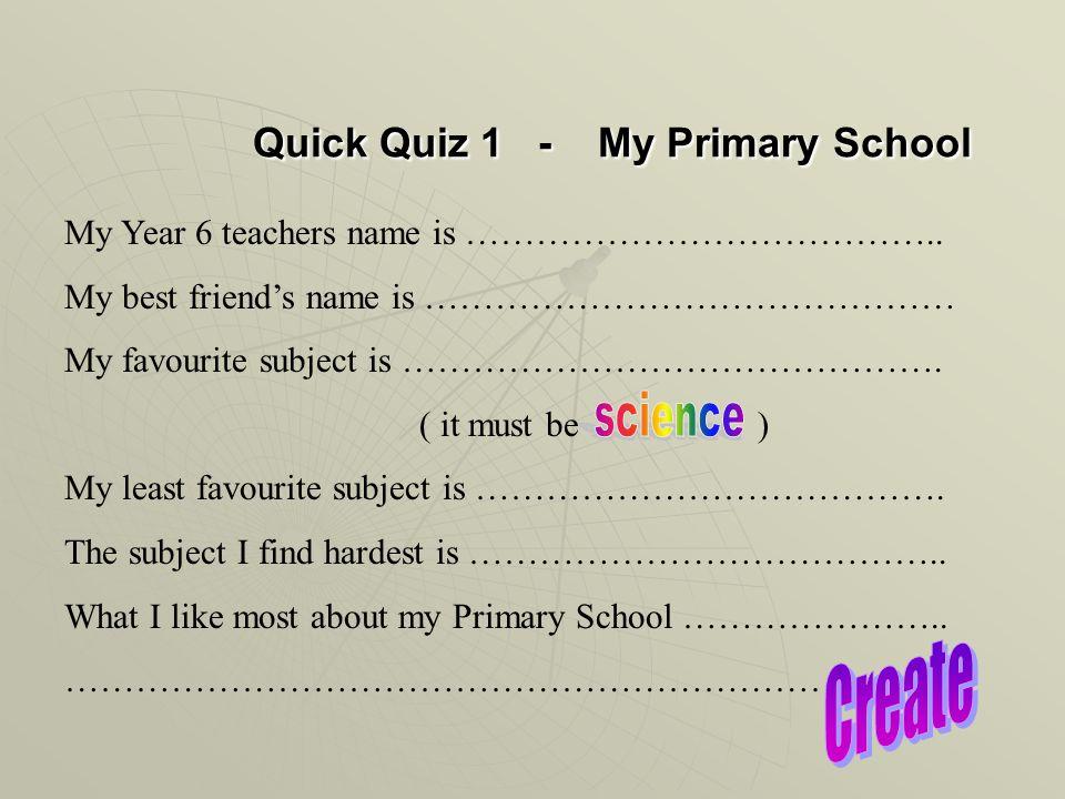 Science Passport KS2 KS3 Name…………………………………………  Primary
