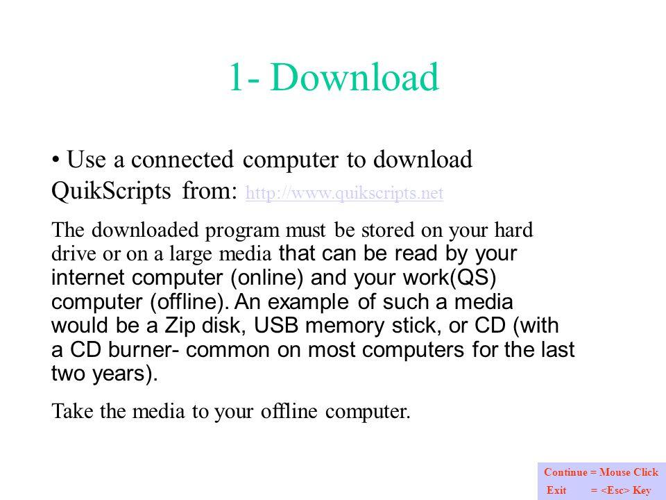 QS: Offline Register To register QS Offline Follow the steps
