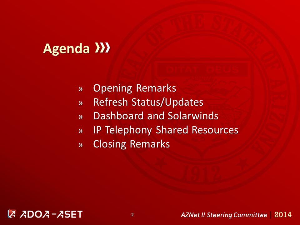 1 AZNet II Steering Committee June 16, Agenda AZNet II